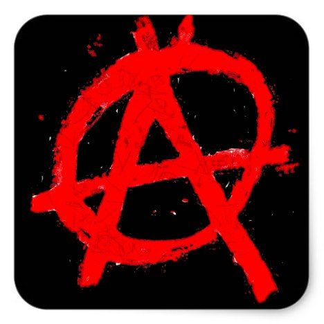 Grungy Red Anarchy Symbol Square Sticker Zazzle Com In 2021 Anarchy Symbol Anarchy Punk Patches