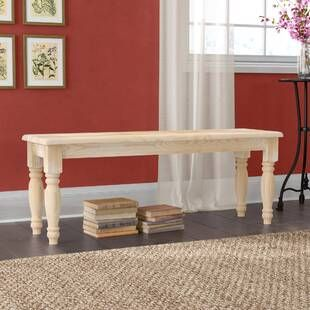 Darby Home Co Dylan Counter Height Upholstered Bench Wayfair Wood Bench Upholstered Bench Wood Storage Bench
