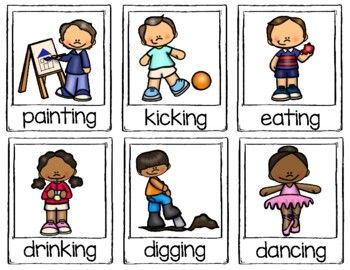Action Verb Cards By Learning Palace Teachers Pay Teachers Action Verbs Action Words Teachers