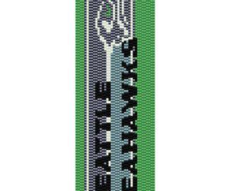 Seattle Seahawks Peyote Pattern by MyCraftAsylum on Etsy