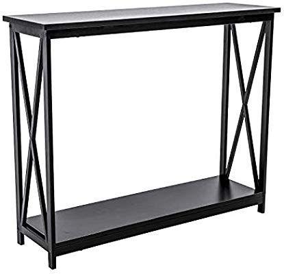 Amazon Com Hofome Sofa Side Table 2 Tier Console Table X Design
