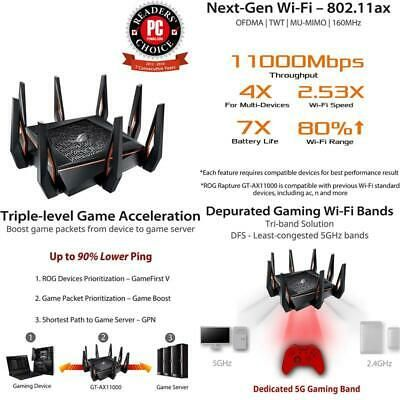 Ebay Link Ad Asus Rog Rapture Gt Ax11000 Ax11000 Tri Band 10 Gigabit Wifi Router Aiprotectio In 2020 Wifi Router Gaming Router Asus