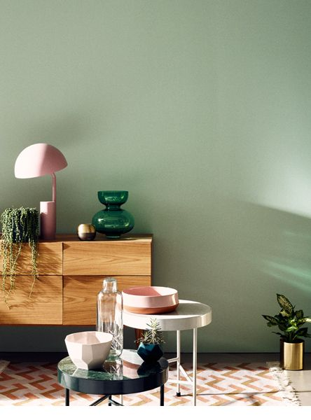 side table-love | jonas von der hude für schöner wohnen ? die ... - Wohnzimmer Farbe Grun