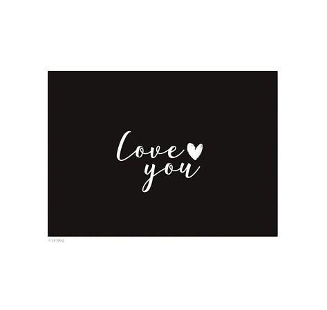 Carte Postale Love You A6 Postale Enveloppe Cartonnee Et Cartes