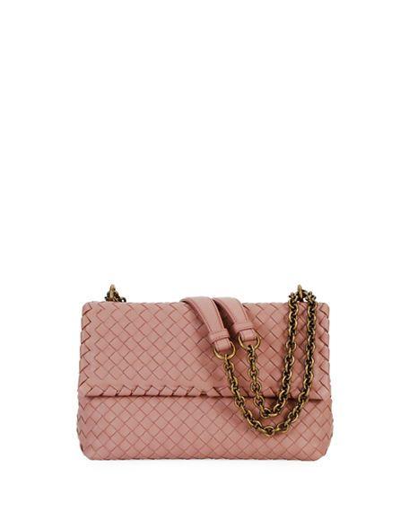 16ba33c733d72 BOTTEGA VENETA   Intrecciato Double Chain Shoulder Bag - Medium Pink    $2,950.00   Bottega Veneta shoulder bag in signature intrecciato woven  leather.