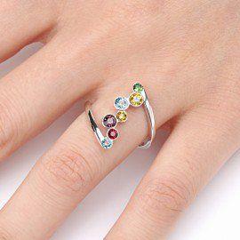 Jeulia Healing Crystal Ring Sterling Silver #rainbow #jewelry #diy #jewelrymaking #diyjewelry #jewelryideas #rainbowjewelry #glimmerjam
