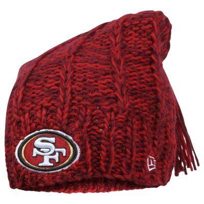 San Francisco 49ers New Era Women S Winter Slouch 2 Knit Hat Scarlet 49ers Ladies Winter Women 49ers Outfit