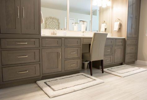 Bathroom Vanity With Makeup Area Farmhouse 26 New Ideas In 2020 Home Depot Bathroom Home Depot Bathroom Vanity Bathroom Vanity Designs