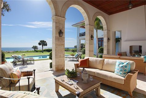 Mediterranean Oceanfront Patio And Courtyard Lap Pool With Authentic Touches Of The Cote D Azur Luxury Pools Indoor Pool Houses Natural Swimming Pools