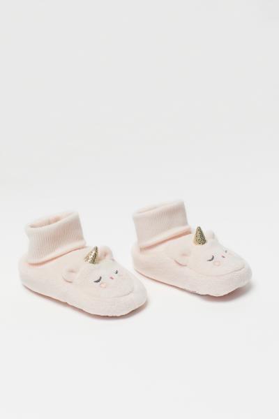 Chaussons souples - Blanc/licorne - ENFANT H&M FR