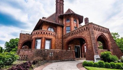 1910 Historic May House For Sale In Cincinnati Ohio Captivating Houses Mansions For Sale Mansions Stone Mansion