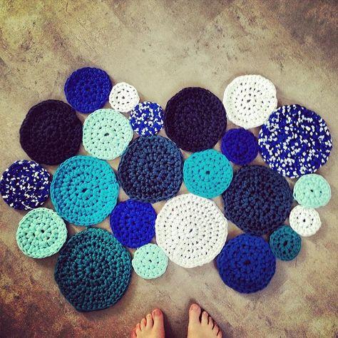 Tapis Rond Trapilho Tricoteuse Crochet Tapis Rond Et Tapis