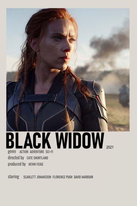 Black widow Polaroid poster