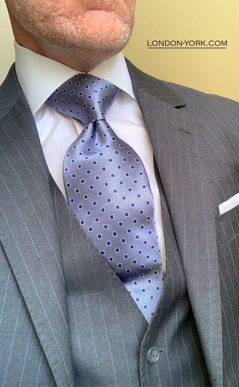 Knightsbridge Neckwear Mens Checked Silk Skinny Tie Purple//Grey