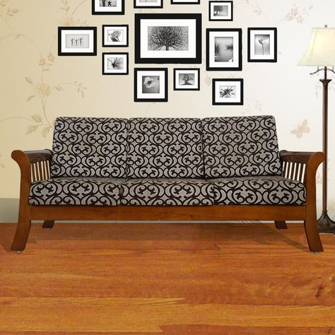 Rent Wooden Sofa 3 Seater On Rent In Chennai At Price Better Than Buy Online At Payrentz Starting Rental At 850 Month Delivery In 2days Furniture Wooden Sofa Sofa Furniture