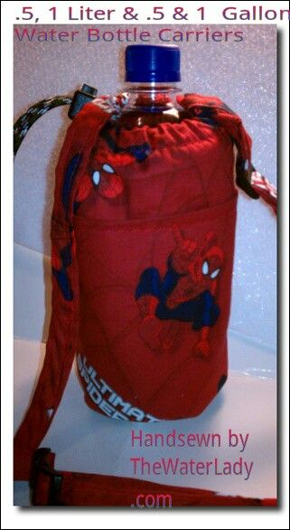 Spiderman Water Bottle Carrier With Fabric Adjustable Strap Insulated 11 1 2 Liter Thewate Water Bottle Carrier Bottle Carrier Spiderman Water Bottle