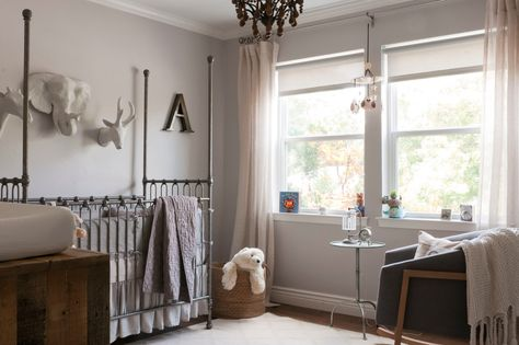 agreeable grey and white baby room ideas. Baroque nursery rocking chair in Nursery Transitional with Sherwin William  Amazing Gray next to Window Sill alongside Williams Agreeable Gr