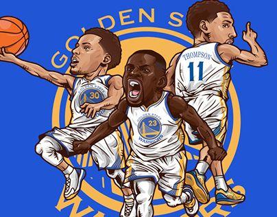 Golden State Warriors Big3 Nba Players Golden State Warriors Nba Artwork