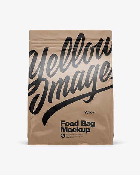 Download Ziplock Packaging Mockup Yellow Images