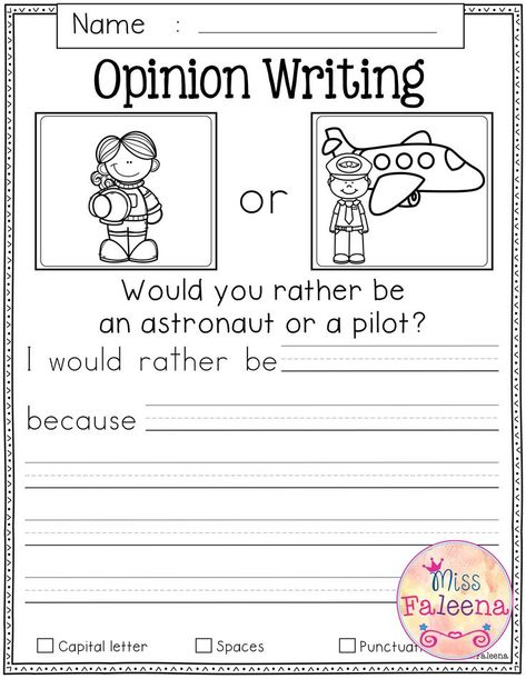 September Writing Prompts contains 60 pages of writing prompts worksheets. This product is suitable for kindergarten and first grade students. Opinion Writing Prompts, Kindergarten Writing Prompts, 1st Grade Writing, Teaching First Grade, Writing Lessons, Kids Writing, Teaching Writing, Kindergarten Worksheets, Writing Activities