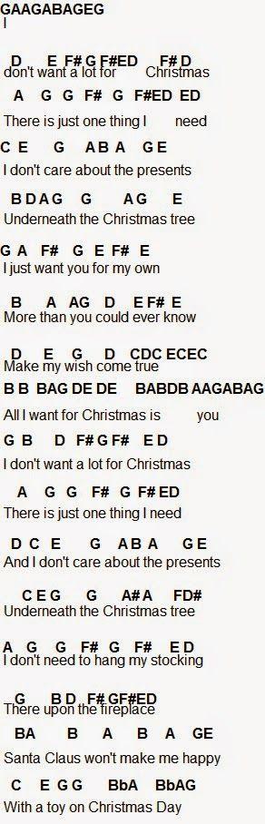 I Dont Want A Lot For Christmas Lyrics.Flute Sheet Music All I Want For Christmas Is You Music