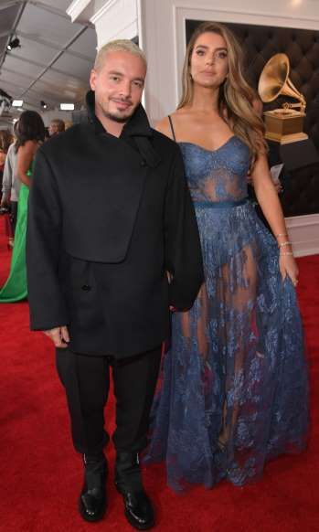 J Balvin And Valentina Ferrer Attend The 61st Annual Grammy Awards In Los Angeles On Feb 10 2019 Getty Images For Grammy Awards Grammy Formal Dresses Long