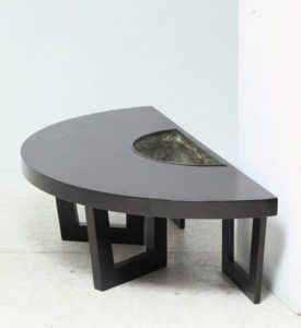 Semi Circle Side Table