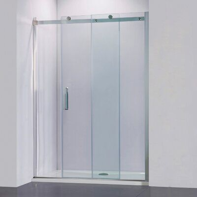 Vinnova Rovigo 60 W X 76 H Single Sliding Frameless Shower Door Frameless Shower Doors Shower Doors Frameless Shower