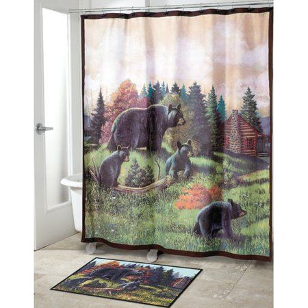 Home Lodge Shower Curtain