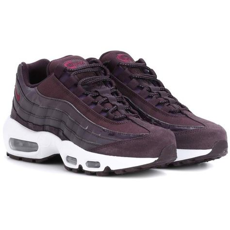 san francisco fdcd5 c877c Nike Air Max 95 Leather Sneakers (175 AUD) ❤ liked on Polyvore featuring  shoes, sneakers, purple, leather shoes, genuine leather shoes, nike trainers,  nike ...