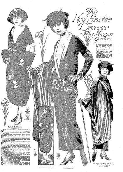 "A 1921 newspaper ad for new Easter dresses, published in the Duluth News-Tribune (Duluth, Minnesota), 13 March 1921. Read more on the GenealogyBank blog: ""Our Ancestors' Easter Parades & Spring Fashions."" http://blog.genealogybank.com/our-ancestors-easter-parades-spring-fashions.html"