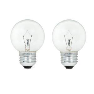 Sylvania 25 Watt Double Life G16 5 Incandescent Light Bulb 2 Pack 10597 The Home Depot Incandescent Light Bulb Light Bulb Bulb