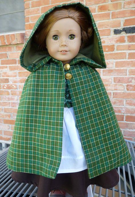 """18 """"Poupée vêtements irlandais pays Cap vert et paysan / tenue de conte de fées s'adapte American Girl poupées"""