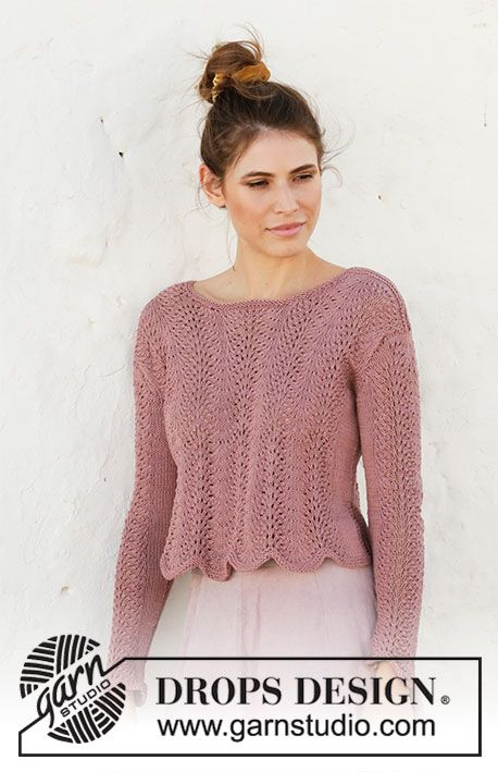 September Rose Drops 202 29 Free Knitting Patterns By Drops