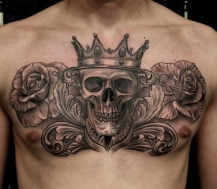 62 Trendy Tattoo Ideas For Guys Rose Chest Piece Tattoos For Guys Cool Chest Tattoos Chest Tattoo Men
