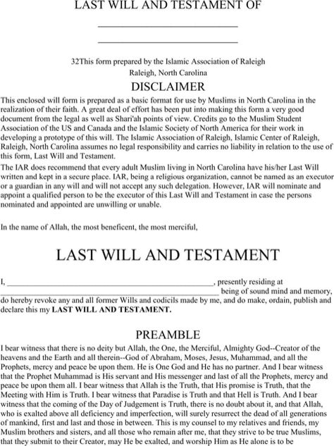 Last will and testament template Form Massachusetts Last will - durable power of attorney forms