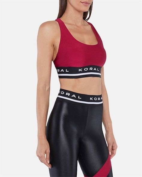 $95  ·  Step up your fitness fashion with this supportive sports bra boasting moderate coverage contrasting elastic straps and removable pads. Fabric 1: 87% nylon 13% spandex Lining: 72% nylon 28% elastane Machine wash tumble dry Made in the USA | Women's Koral Fame Limitless Plus Sports BraDesejo Small. #fitness #fitnessinspiration #selfcare #motivation #fitnessmotivation