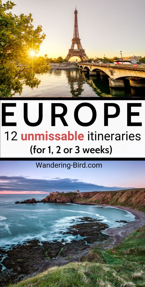 Planning a trip to Europe? Looking for places to visit in Europe? Here are 12 UNMISSBALE European itinerary and destination ideas for 1, 2 or 3 week Europe travels. | Europe destinations | Europe Travel | Places to visit in Europe | Europe road trip | Europe itinerary | Europe Map | Europe Bucket List itineraries | Europe travel tips #europetravel #europedestinations #itinerary #europetraveltips