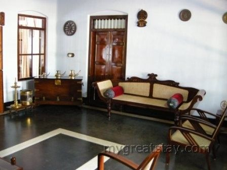 Antique Furniture At A Guest House In Kerala Usually Teak Or Rosewood