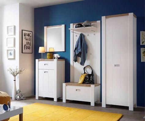 Delife Garderobe Medine Weiss Matt 230 Cm Spiegel Garderobe Schrank Garderobenschrank Dielenmobel