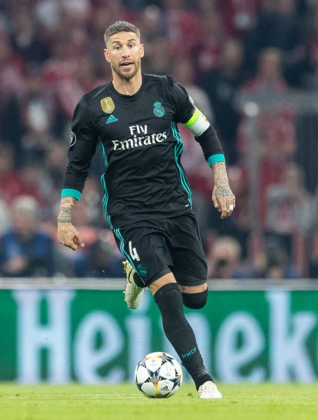 Sergio Ramos Of Real Madrid Runs With The Ball During The Uefa Sergio Ramos Real Madrid Sergio Ramos Body
