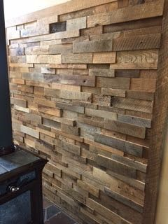 15sf Reclaimed Barn Wood Stacked Wall Panels Reclaimed Wood Wall Panels Wood Panel Walls Reclaimed Barn Wood Wall