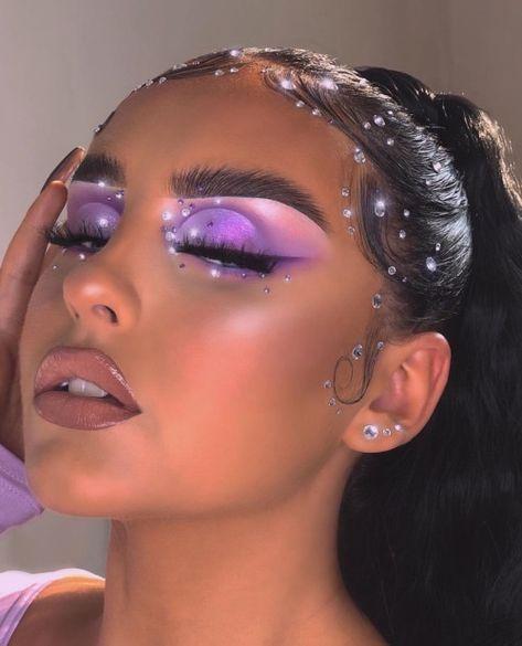 Edgy Makeup, Baddie Makeup, Makeup Eye Looks, Eye Makeup Art, Cute Makeup, Gorgeous Makeup, Pretty Makeup, Skin Makeup, Flawless Face Makeup
