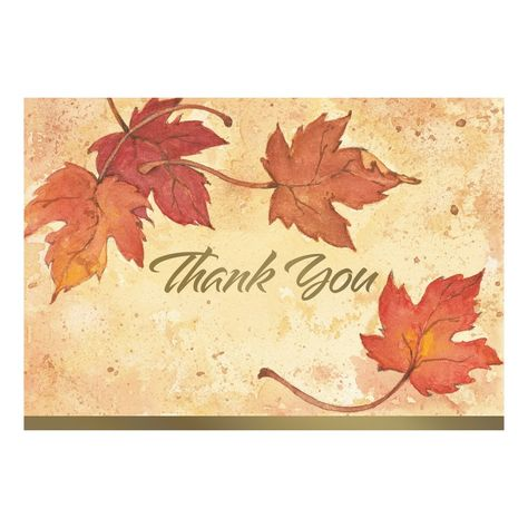 Great Papers™ thank you note cards are perfect for any season or reason. These gold foil accented note cards will brighten everyone's day. Show your gratitude today by saying thank you in a stylish way. Greeting Card Box, Christmas Greeting Cards, Christmas Tag, Holiday Cards, Leaf Cards, Thank You Note Cards, Stamping Up Cards, Thanksgiving Cards, Card Patterns