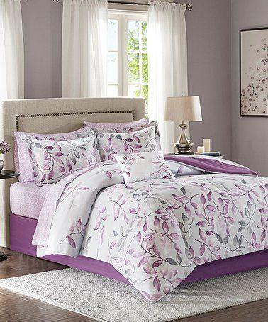 Loving This White Purple Nine Piece Sheet Set On Zulily