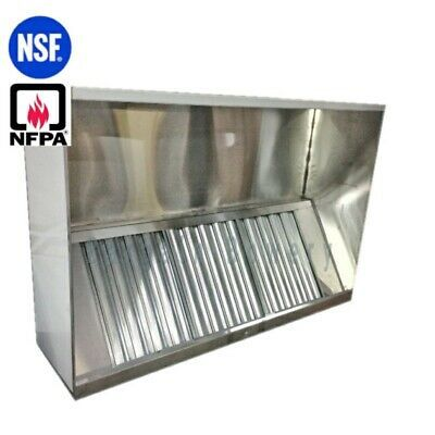 10 Ft Restaurant Commercial Kitchen Box Grease Exhaust Hood Type I Hood Ebay Exhaust Hood Commercial Kitchen Kitchen Exhaust