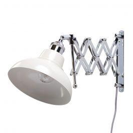 Ollos Industrial Style Extendable Wall Light, Cream