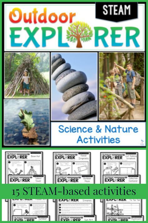 Outdoor Explorer Steam Science And Nature Activities Science Nature Nature Activities Science Lessons