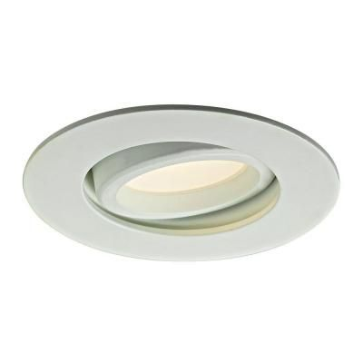 Illume Lighting 3 37 In White Recessed Led Directional Down Light I Leddownsw3 Wh The Home Depot Kitch Downlights Home Depot Kitchen Renovation Inspiration