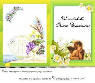 Biglietti Per La Prima Comunione Da Stampare Prima Comunione Comunione Biglietto